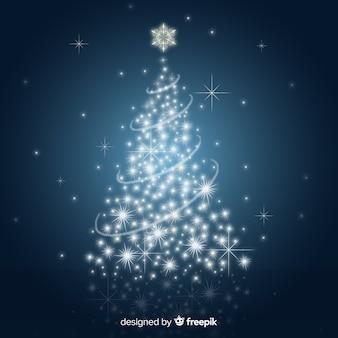 シャイニークリスマスツリーイラスト