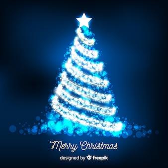シャイニーシルバークリスマスツリーの背景
