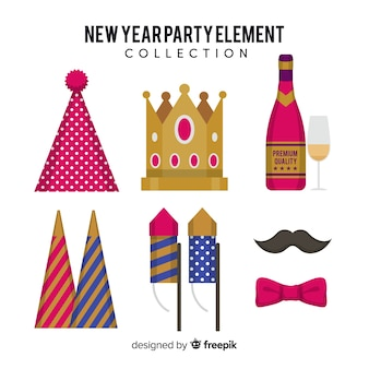 Коллекция элементов новогодних вечеров