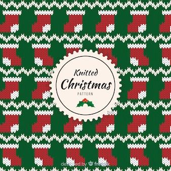 ニットクリスマスパターン