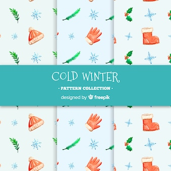 寒い冬のパターンコレクション