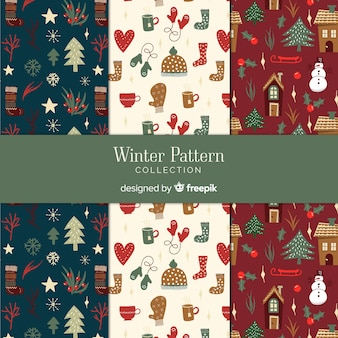 Коллекция зимних рисунков