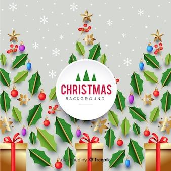 現実的なデザインとエレガントなクリスマスの組成