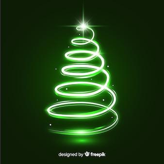 スパークルトレイルクリスマスツリー