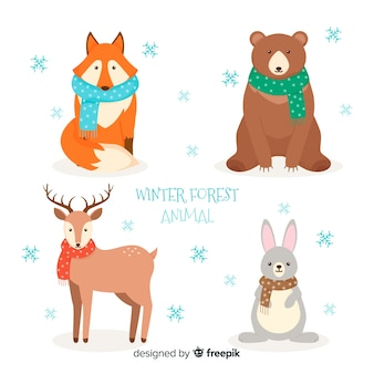 冬の森動物パック