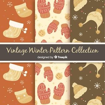 ヴィンテージ冬のパターンのコレクション