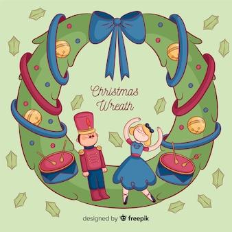 クリスマスおもちゃの花輪
