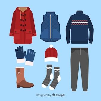 Зимний плоский наряд