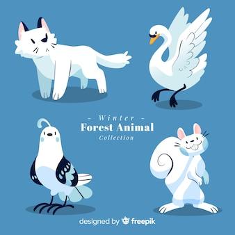 冬の森の動物コレクション
