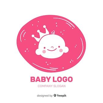 赤ちゃんのロゴテンプレート