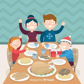 クリスマスの家族の背景