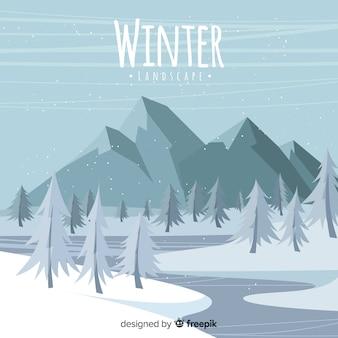 無色の冬の背景