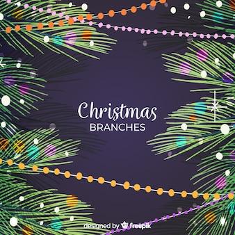 Фон рождественских ветвей