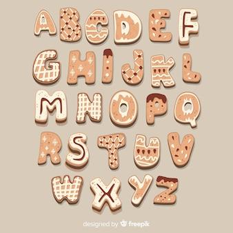 ジンジャーブレッドのクッキーのアルファベット