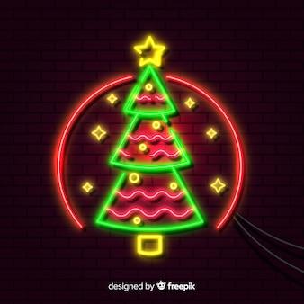 Рождественский неоновый фон
