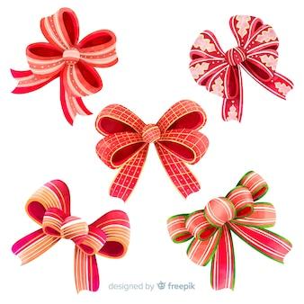 クリスマスの弓のコレクション