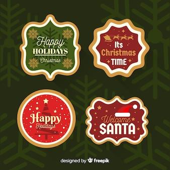 Коллекция рождественских значков