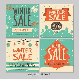 冬の販売カード