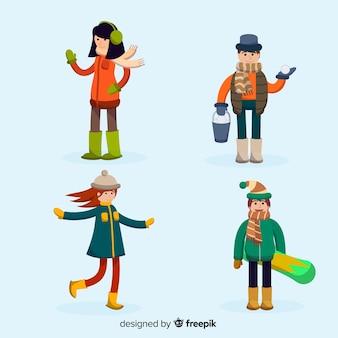 子供の冬のコレクション