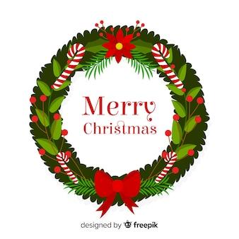 クリスマスの花輪の背景