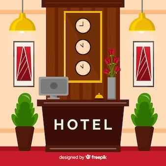 近代的なホテルの受付構成