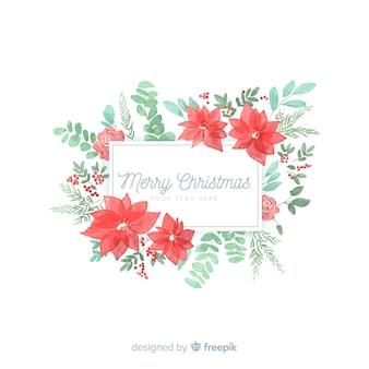 クリスマスの花のフレーム