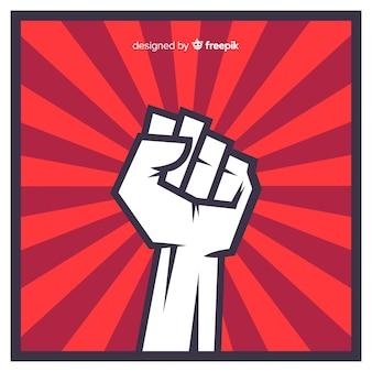 拳の付いたクラシックな革命