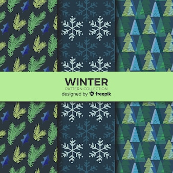 素敵な冬のパターンのコレクション