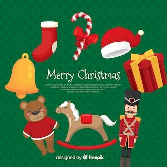クリスマスおもちゃの背景テンプレート