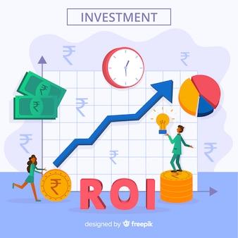 Индийская рупия инвестиционной концепции