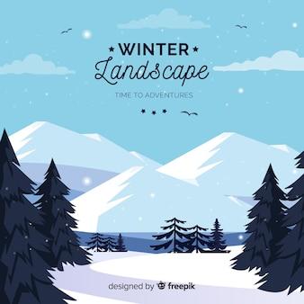 冬の風景の背景