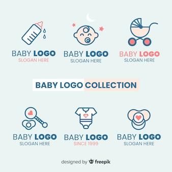 Прекрасный логотип ребенка с современным стилем