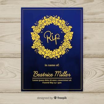 エレガントなスタイルの古典的な葬儀パンフレット