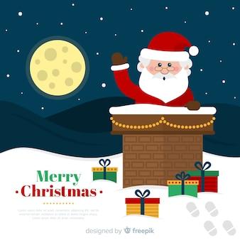 フラットクリスマスの背景