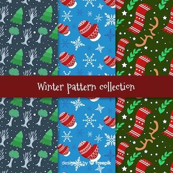 冬の要素パターンコレクション