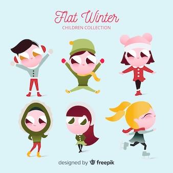 冬の子供コレクション