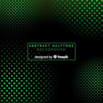 Абстрактный зеленый фон с полутоновым стилем