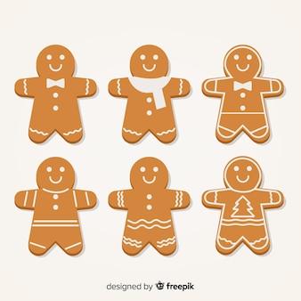 シンプルなジンジャーブレッドクッキーコレクション