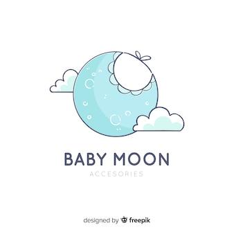 Современный ручной шаблон логотипа ребенка