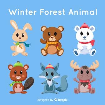 冬の森動物コレクション