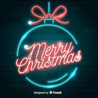 Рождественский неоновый шар