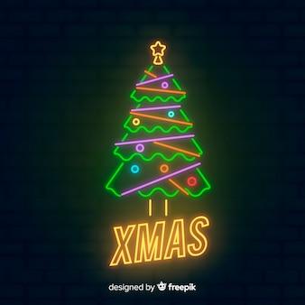 Рождественское неонное дерево
