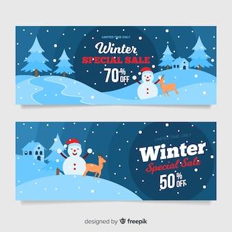 冬のセールスバナー