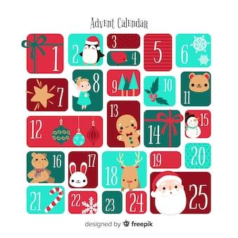 Рождественский календарь с прекрасным стилем