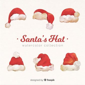 素敵な水彩サンタの帽子コレクション