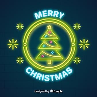 Прекрасная рождественская композиция с неоновым светом
