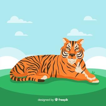 Сердитый фон тигра