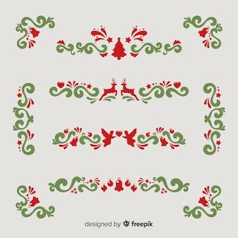 ヴィンテージスタイルのクリスマスオーナメントコレクション