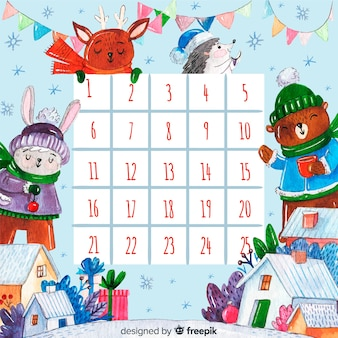 エレガントなスタイルと素敵なクリスマスのカレンダー