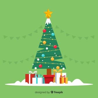 ギフトボックス付き素敵なクリスマスツリー